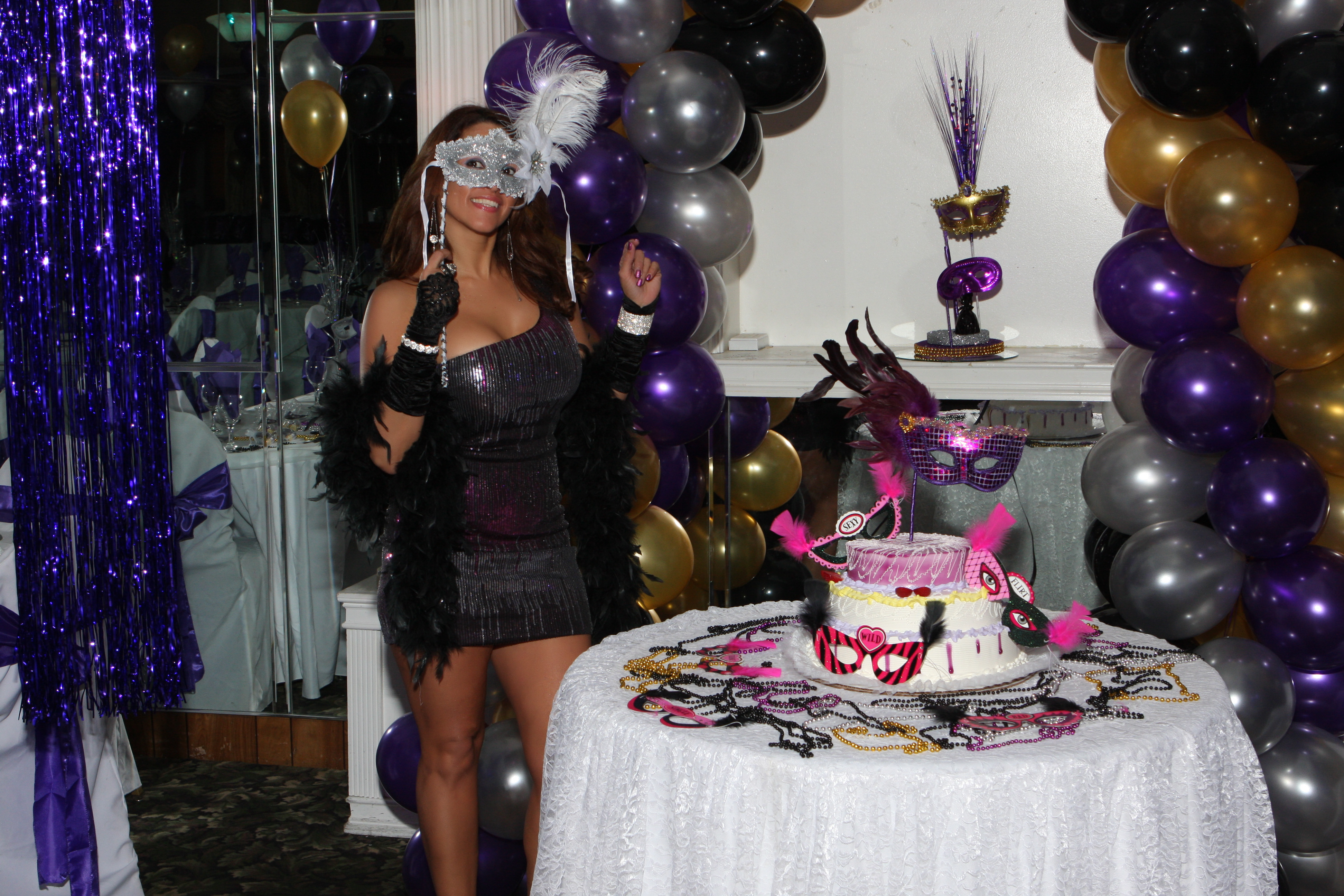 Masquerade birthday party at cesar hall 3 3 12 suheil for 21st birthday hall decoration ideas